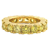 Eternity CZ Ring Lemonade Canary on Gold