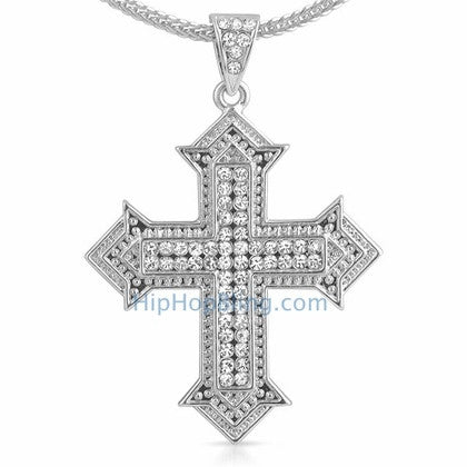 Designer Cross Bling Bling Chain Small