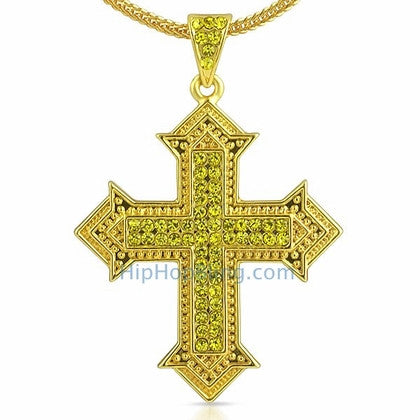 Designer Cross Lemonade Bling Bling Chain Small