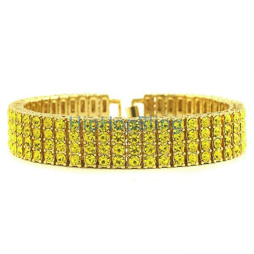 Lemonade 4 Row Gold Bracelet