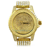 Gold All Bling Bling Custom Watch Iced Out Band