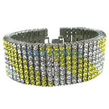 Canary White Crazy 8 Row Bling Bling Bracelet
