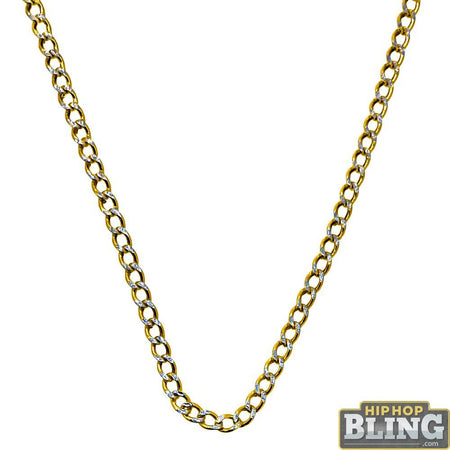 Cuban IP Gold Stainless Steel Chain Necklace 6MM