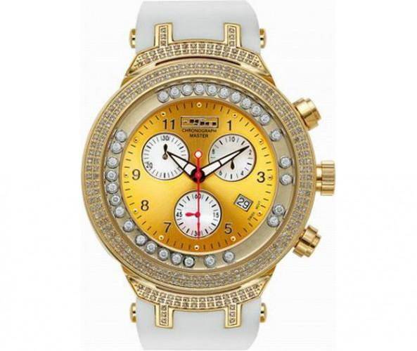 Golden Floating Joe Rodeo Master Watch with White Band
