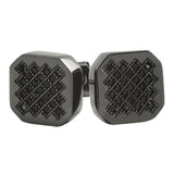 Zig Zag Iced Out Black CZ Micro Pave Earrings
