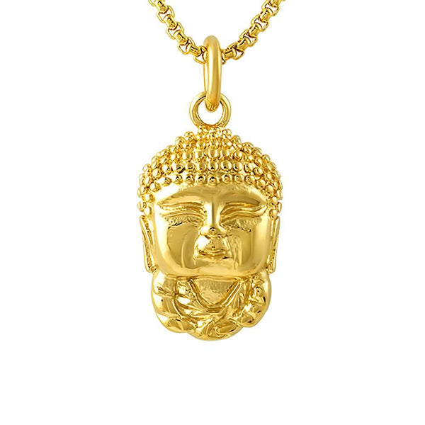Gold Baby Buddha Pendant Stainless Steel