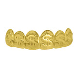 Money Gold Grillz Dollar Sign Top Teeth