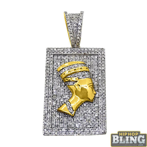 African Queen Pendant Gold .925 Silver .71 Carats