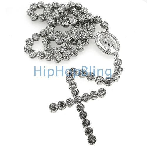 Bling Bling Rosary Necklace Cluster