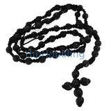 Bling Bling High End Black Disco Ball Rosary Necklace