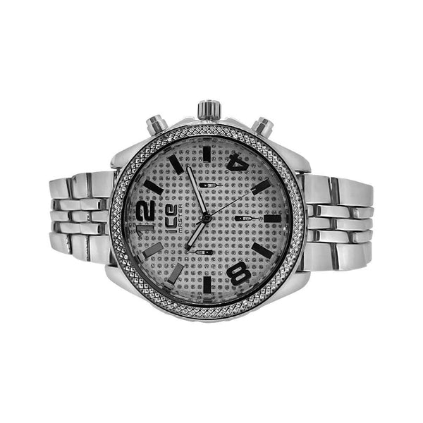 Silver Sport Jubilee Hip Hop Watch