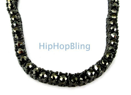 Totally Bling Bead Chain Black