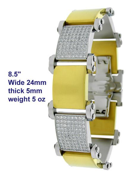13MM Gold Cuban ID Stainless Steel Bracelet