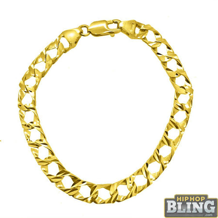 Gold 10MM Disco Ball Bracelet