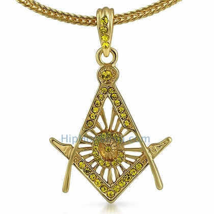 Free Mason Masonic Lemonade Pendant & Chain Small