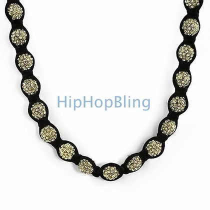 Gold 50 Disco Ball Bling Bling Chain