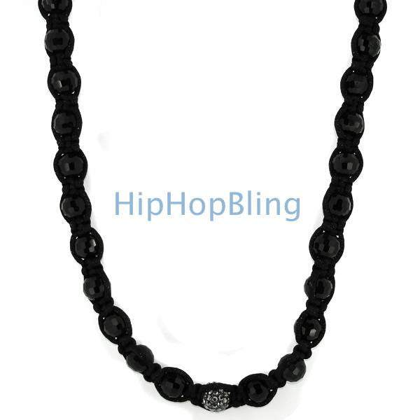 Hematite 1 Disco Ball Bling Bling Necklace