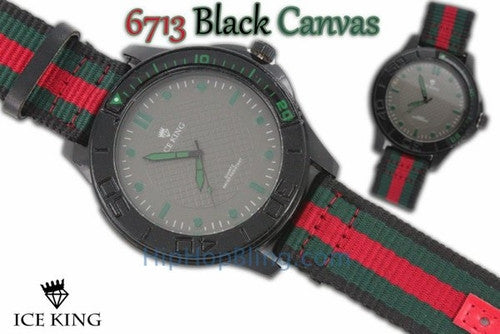 Italy Colors Canvas Fashion Watch Black