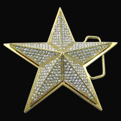 Jumbo Texas Lone Star Gold Totally Bling Belt Buckle