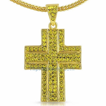 Lemonade Ballers Bling Bling Cross Chain Small