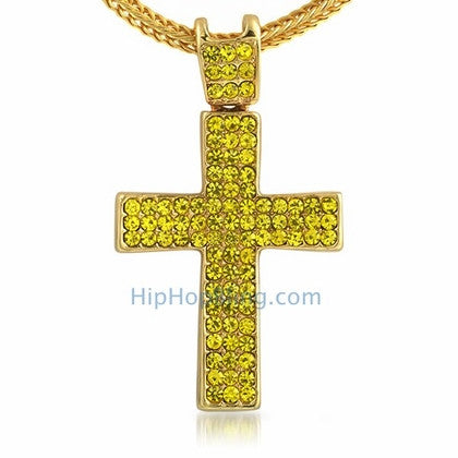 Lemonade Concave Hip Hop Cross & Chain Small