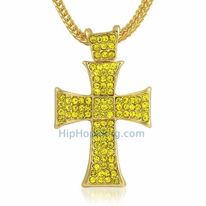 Lemonade Hatchet Bling Cross & Chain Small