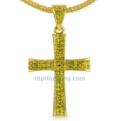Lemonade Bling Curl Cross & Chain Small