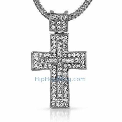 Mega Bling Bling Cross & Chain Small