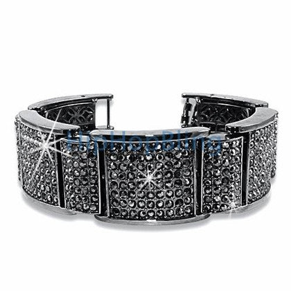 Mega Thick Black Super Bling Bling Bracelet