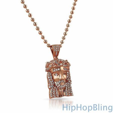 3D Lion Head Detailed Pendant Gold Steel