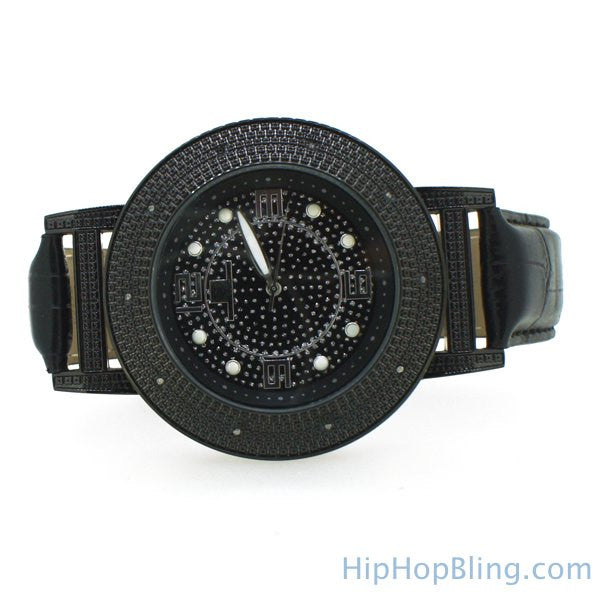 Playa Style Black Super Techno Watch Real Diamonds