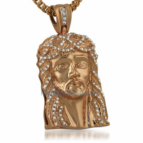 Rose Jesus Face Piece Pendant