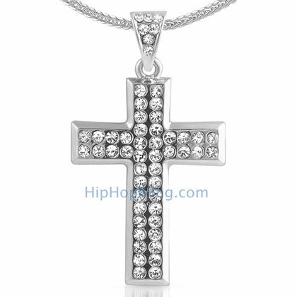 Skinny Cross Bling Bling Chain Small