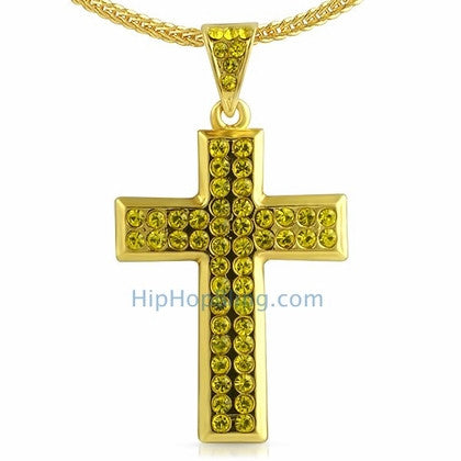 Skinny Lemonade Cross Bling Bling Chain Small