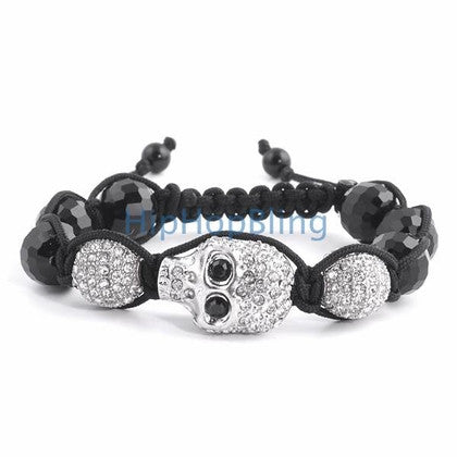 Skull Bling Bling Disco Ball Bracelet