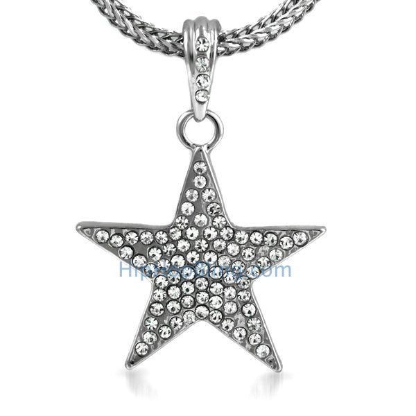 Small Bling Lone Star Pendant & Chain