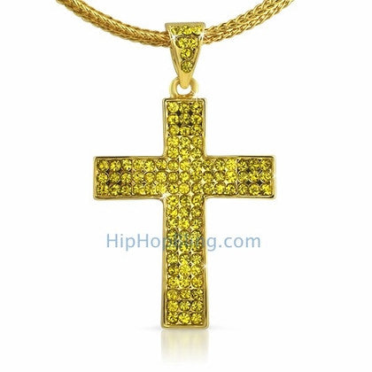 Small Lemonade Bling Bling Cross & Chain