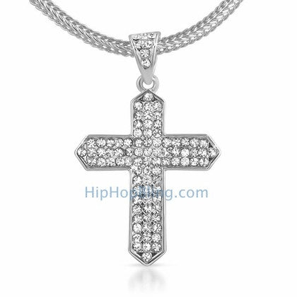Taper Bling Bling Cross & Chain Small