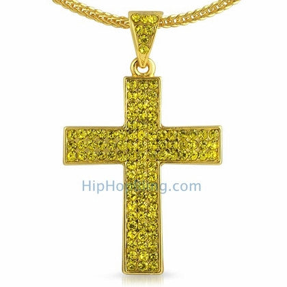 Triple Lemonade Bling Bling Cross & Chain Small