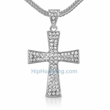 Wing Bling Cross & Chain Small