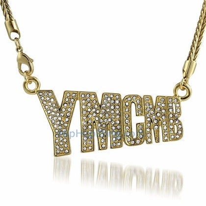 YMCMB Gold Bling Bling Pendant & Chain
