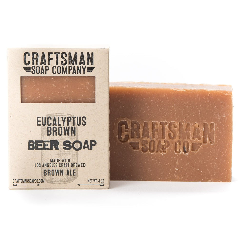 Beer Soap, Eucalyptus Brown