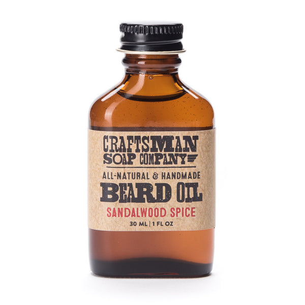 Sandalwood spice is an exotic scented beard oil with oak moss and other essential oils for a sweet jungle aroma; Made in USA.