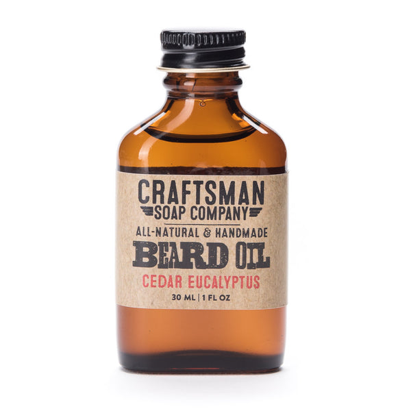 Cedar Eucalyptus is a natural wood scented beard oil made with essential oils for a forest and woodsy scent Handmade in USA.