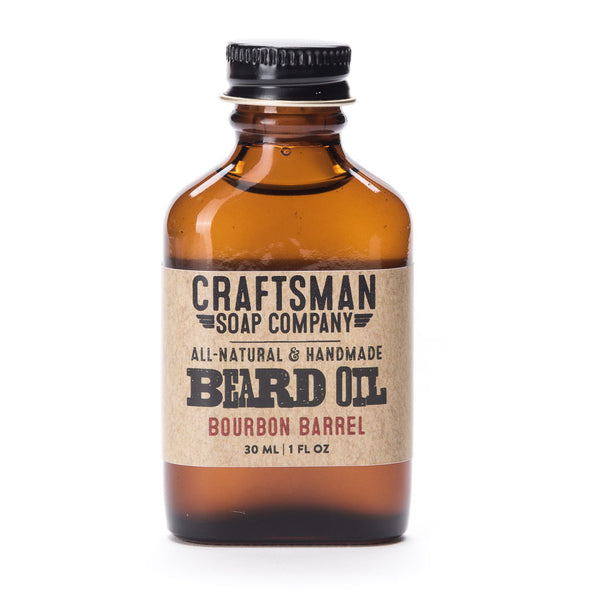 Bourbon barrel is an oaky cask type beard oil with cardamom and vanilla essential oils, scented like a used whiskey barrel.
