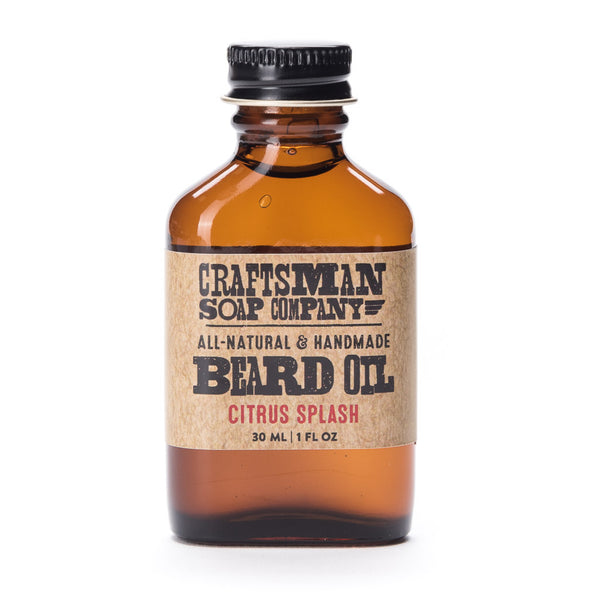 Citrus Splash beard oil is handmade with an essential oil trio of lemon, lime, and grapefruit, with a hint of juniper berry.