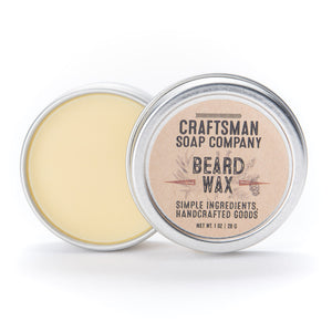 Beard Wax with Local Beeswax and Essential Oils