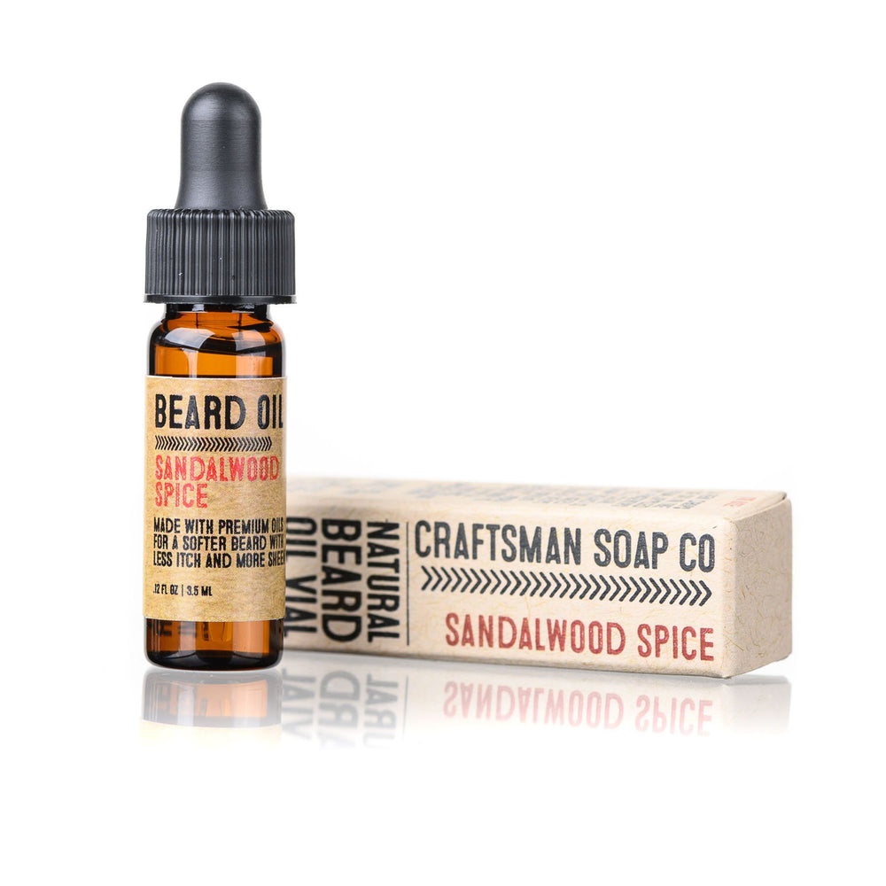 Travel-Size Beard Oil, Sandalwood Spice