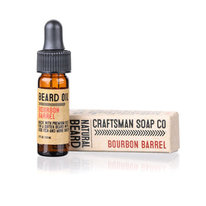 Travel-Size Beard Oil, Bourbon Barrel
