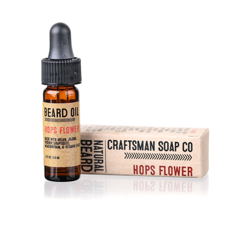 Travel-Size Beard Oil, Hops Flower
